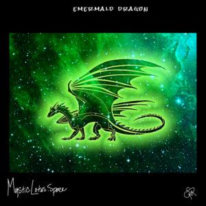 emerald dragon artwork by mysticlotus.space