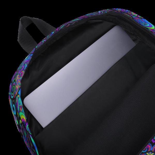 backpack showing inside pocket for labtop