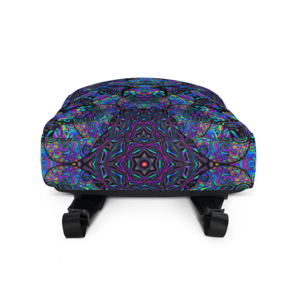 colorful artistic design backpack bottom