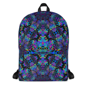 colorful artistic design backpack