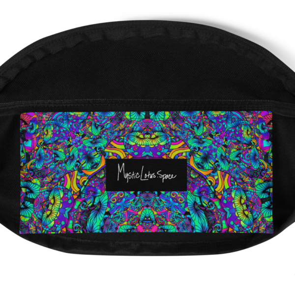 colorful artistic mush kaleidoscope fanny pack inside pocket