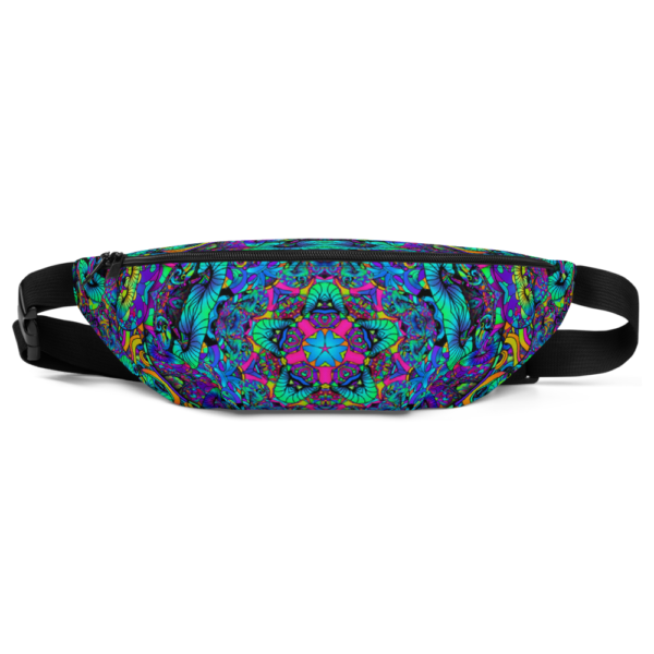 colorful artistic mush kaleidoscope fanny pack