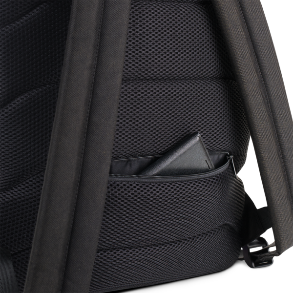 close up of backpack showing a zipper pocket