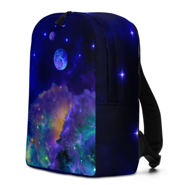 outer space nebulae backpack with planets
