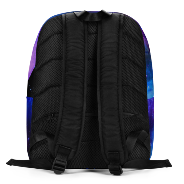 outer space nebulae backpack with planets backside