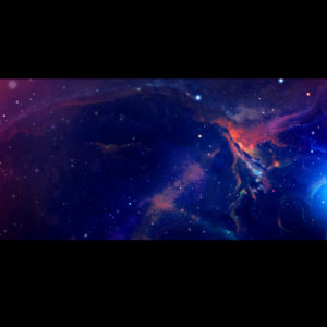 widescreen outer space scene with planet