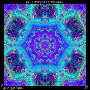 Kaleidoscope visions neon artwork by mysticlotus.space