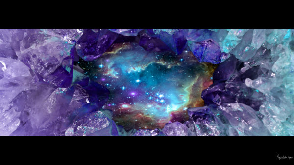 artwork crystal space with crystals and space desktop wallpaper in 1080 free