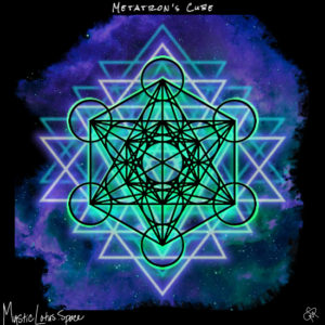 metatron's cube sacred geometry artwork by mysticlotus.space