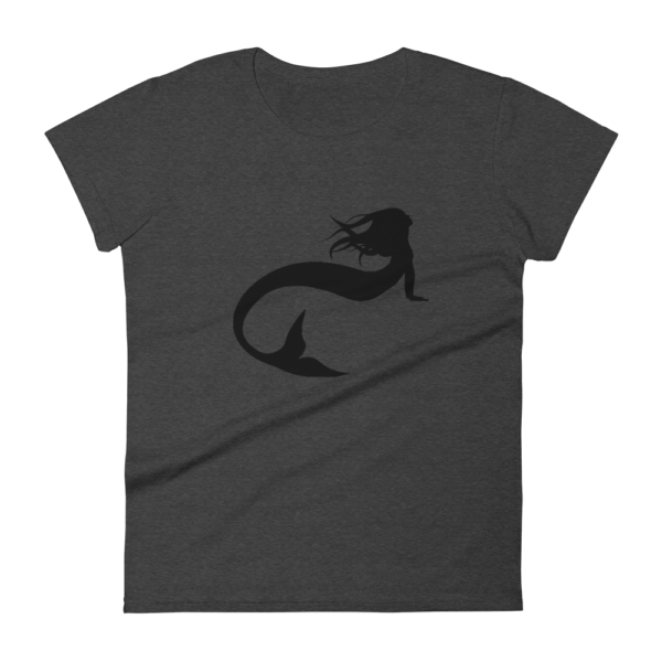 women's t-shirt with a silhouette mermaid