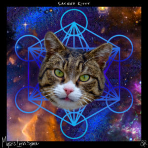 cat face inside of a metatron's cube artwork by mysticlotus.space