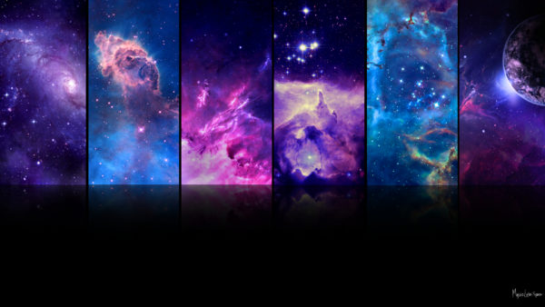 1080p wallpaper with mulitple outer space images