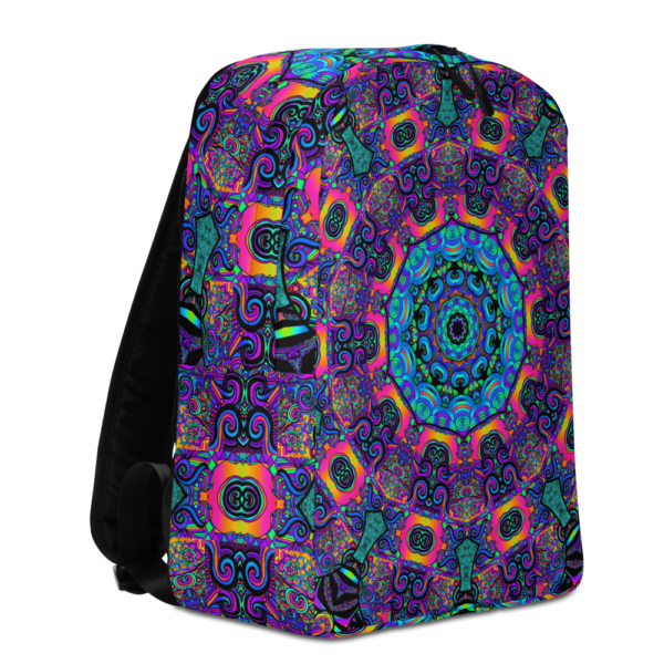 psychedelic bright colored backpack