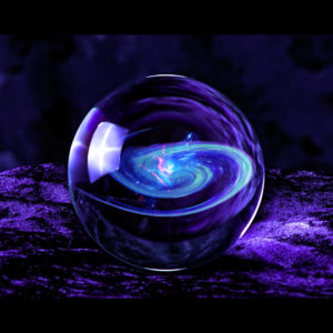purple velvet background crystal ball with galaxy in it desktop wallpaper in 1080