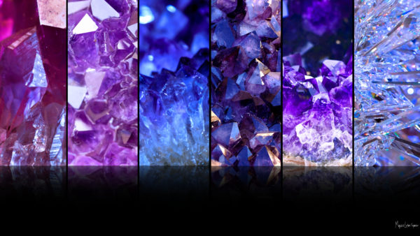 split images of different crystals and gems in a desktop wallpaper 1080