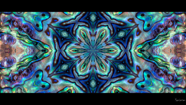 colorful kaleidoscope abalone shell desktop wallpaper in 1080